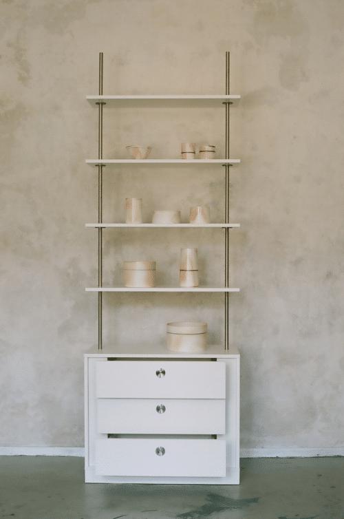 Louis Castello - Design-Regal mit Schubladen: design regal stufenlos verstellbar