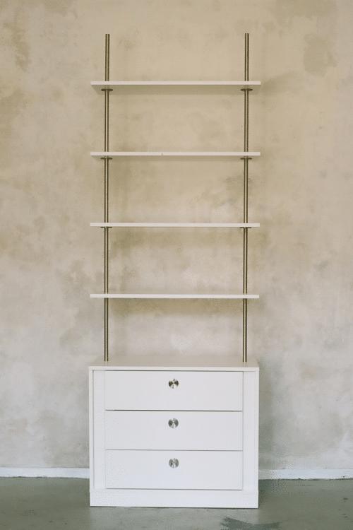 Louis Castello - Design-Regal mit Schubladen: design regal weiss louis castello